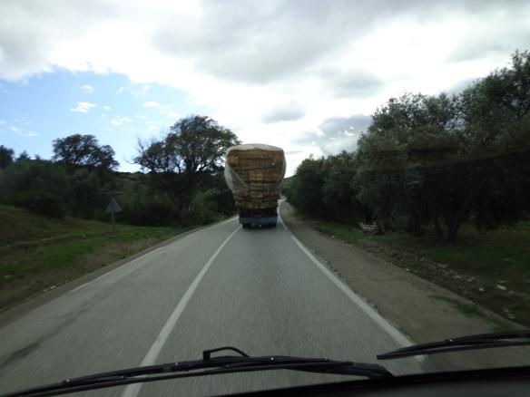 Hay lorry
