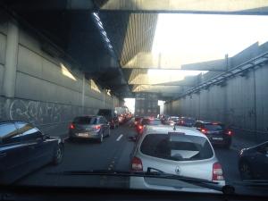 Morning Rush Hour In Paris