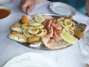 Our Fish Dinner - too much even for us hungry Morgans