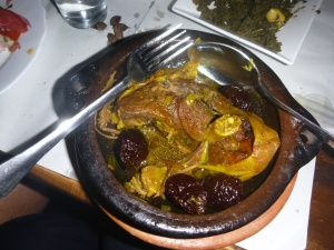 Marion had goat cooked with prunes