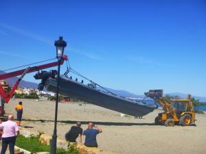 Lifting Off Beach