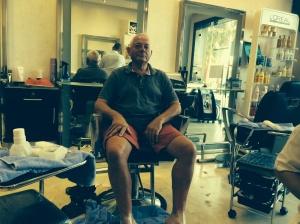 Tony  at the Beauty Parlour